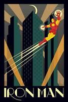 Iron Man Poster - Art Deco - Kunstposter - Avengers Superheld - 61 x 91,5 cm NEU