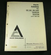 Allis Chalmers HD-16D HD-16DC Crawler Tractor Parts Manual Book S/N 5901 Up