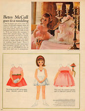 1962 vintage cut out  BETSY McCALL Paper Doll goes to a wedding Cut out 050516