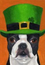 """FM16  SAINT PATRICK'S DAY IRISH DOG IN HAT 12""""x18"""" GARDEN FLAG BANNER"""