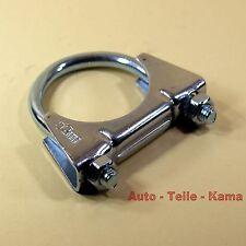 Auspuffschelle für Opel , Vauxhall , Volvo , Montageschelle / Clamp M8 Ø 52 mm