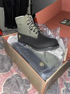 Size 13 Black And Green Warmlined Timberland Boot