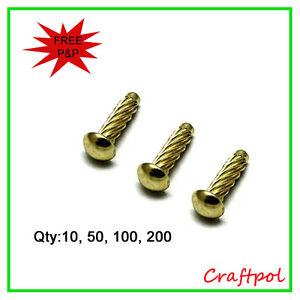 Type-U Round Head Hammer Drive Screws - Electro Brassed. N20
