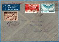 Svizzera - 1938 - Via aerea per il Perù - Non comune affrancatura multipla