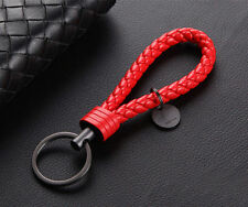 Keychain Leather Rope Strap Weave Keyring Key Chain Ring Key Fob Gift New