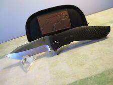 greg lightfoot bullwhip flipper custom folding knife