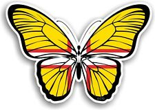 Beautiful Butterfly Design & Dorset West Country Flag vinyl car sticker Decal