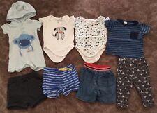 "Pre-loved ""Target"" ""Tiny little wonders"" baby boy bundle pants tops size 0"