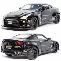 Nissan GTR 1/32 Scale Model Car Diecast Toy Vehicle Kids Gift Collection Black