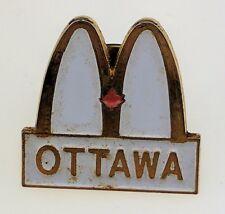 McDonald's Ottawa Cast Member Pin Canada Pretty Worn Aged VTG Logo