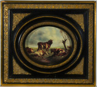 20th Century Ornate Gilt Frame with Oval Aperture