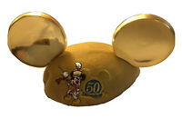 DISNEYLAND 50TH ANNIVERSARY Youth MICKEY MOUSE Ears Gold Hat, RARE NWT