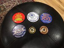 Lot Of 6 Vintage NFL Button Pins Super Bowl Cowboys Redskins Late 70s 80s