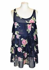 CHIARUGI Floral Navy Mini Dress, I 42 F 38 D 38