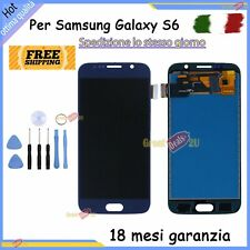 DISPLAY LCD PER SAMSUNG GALAXY S6 G920 SM-G920F BLU TOUCH SCREEN SCHERMO VETRO