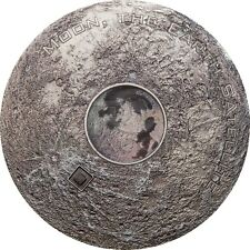 Cook Islands 2017 20$ Meteorite - Moon Earth's Satellite 3oz Silver Coin