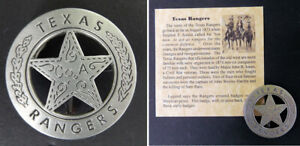 Texas Ranger Badge, Peso Back, Company A, boxed, Old West, Western