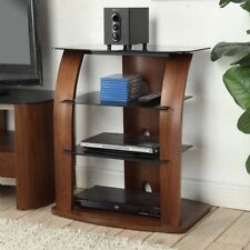 Jual Furnishings Melbourne Entertainment Unit HiFi Stereo Stand Rack In Walnut