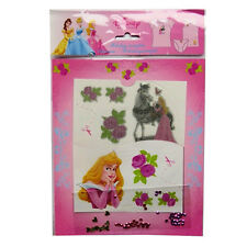 Disney Princess Childrens Clothing Transfers - With Sequins and Gold Hearts