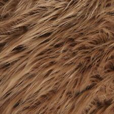 FabricLA Half Yard Shaggy Faux Fake Fur Fabric - Brown