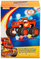 BLAZE MONSTER TRUCK PAINT YOUR OWN ART PAINTING CRAFT BRUSH 5 PAINTS GIFT - NEW