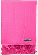 Free Shipping 2PLY SOFT Cashmere Scarf Hot Pink Scotland Wool Plaid Women Wrap