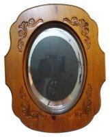 Wood Frame Picture Carved Oval Vintage