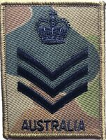 DPCU Army Australia Rank SSGT Patch with Hook Backing