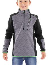 CMP Fleece Pullover Function Top Grey Collar Breathable Stretch