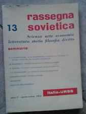 RASSEGNA SOVIETICA - SCIENZA,ARTE,ECONOMIA,LETTERATURA STORIA FILOSOFIA DIRITTO
