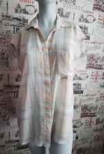 Mango Oversized Check Chiffon Blouse Shirt M 10 12 UK Summer/Holiday
