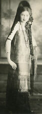 VINTAGE ARTISTIC HALLOWEEN GYPSY BEAUTY WIG DRESS MYSTERIOUS GIRL FLAPPER PHOTO