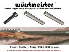 Custom Trigger Group Pins (2) + Takedown Screw For Ruger 10/22 - New!