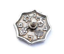 Small DREIDEL - - -  Metal Draidel, Judaica hebrew Jewish gift Spinning Chanukah