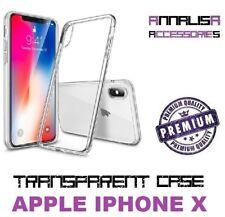 COVER TRASPARENTE PER APPLE IPHONE X CUSTODIA PROTEZIONE TPU TRANSPARENT CASE