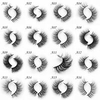 Soft Design 3D 100% Real Mink False Eyelashes Cross Messy Eye Lashes 1 Pair