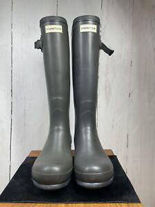 Hunter Norris UK6 EU39 Neoprene Adjustable Grey Wellies Wellingtons (ref: 664)