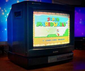 "SONY TRINITRON  KV-1434M3B 14"" Vintage CRT TV Gaming Arcade Monitor"