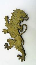 Lion rampant retourné bronze heraldique heraldic sculpture