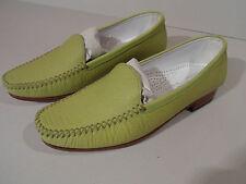 Gabriele G Beni Ladies Green Pistachio Leather Sole Shoes EU 35 UK 2.5 Italian