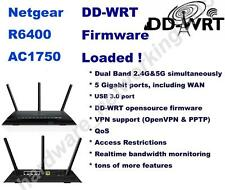 Netgear R6400 AC1750 2.4G/5G High Power Wireless Router w/ DD-WRT VPN firmware