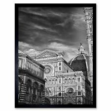 Photo Architecture Florence Duomo Cathedral Black White Italy Framed Art Print