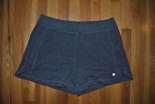New Womens Active Life Deep Charcoal Exercise Lounge Knit Shorts Size Large