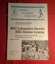 1966/67, Programmheft BSG Chemie Leipzig - BSG Lok Stendal, 26.04.1967