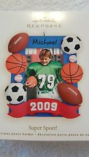 "2009 Hallmark Keepsake Ornament ""Super Sport "" Football  Baseball  Soccer"