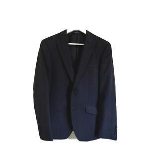 Daniel Hechter Paris Australian Merino Wool Navy Houndstooth Size 44