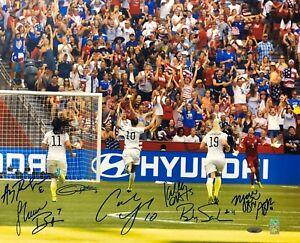 Team USA Star Carli Lloyd Signed 2015 World Cup Celebration 16x20 Photo Tri-Star
