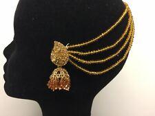 Indian Bridal Hair Jewellery Earrings Jhumka Jhumki Beaded dangle Wedding party