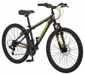 Mongoose Excursion mountain bike, 24-inch wheel, 21 speeds, boy frame, black