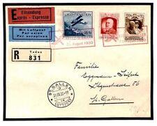 Z196 Liechtenstein Foreign Air Mail 1930 Cover {samwells-covers}
